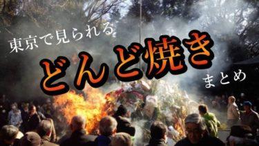 どんど焼きを東京で観よう!どんど焼きを行う東京の神社と公園まとめ