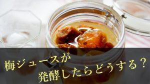 梅ジュース(梅シロップ)は発酵しても飲める?発酵した時の対処法と発酵させない方法