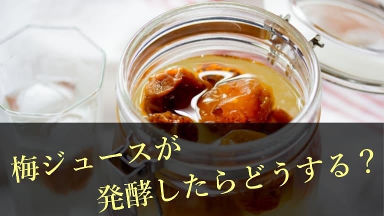 したら 発酵 梅 シロップ