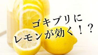 ゴキブリにはなぜレモンやレモングラスが効果的か?それはd-リモネンのおかげ