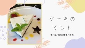 ミントの葉は食べる?デザートの飾りだから葉っぱ食べないのが普通?