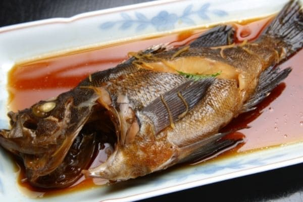 ポリ袋で作った煮魚